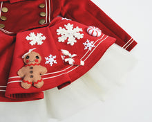 Theatre Red Nutcracker with Snowflakes and Peppermint