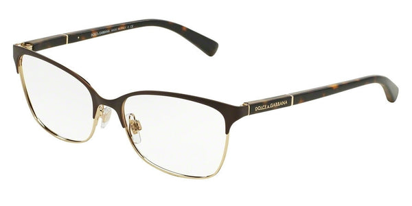 Dolce & Gabbana DG1268 1254 MATTE BROWN/PALE GOLD Specs at Home