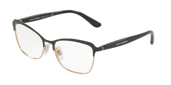 Dolce & Gabbana DG1286 1 BLACK/PINK GOLD Specs at Home