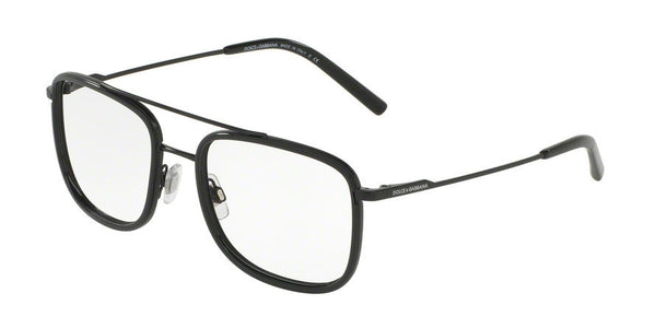 Dolce & Gabbana DG1288 1106 MATTE BLACK/BLACK Specs at Home
