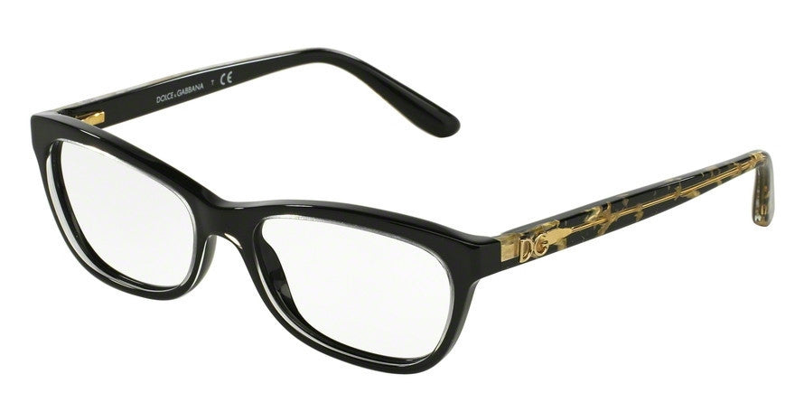 Dolce & Gabbana DG3221 2917 CRYSTAL ON BLACK Specs at Home