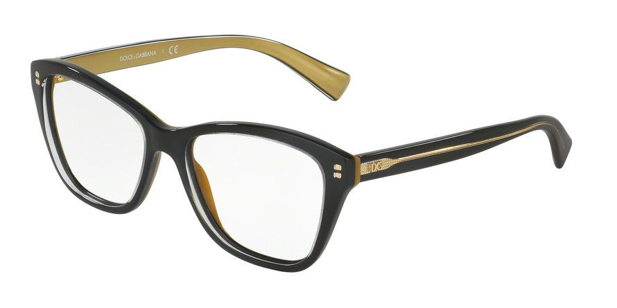 Dolce & Gabbana DG3249 2955 TOP BLACK ON GOLD Specs at Home
