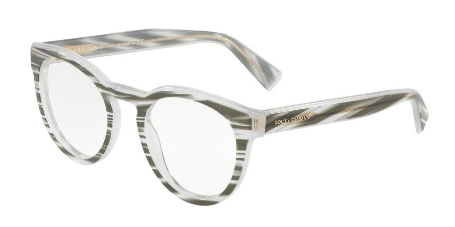 Dolce & Gabbana DG3251 3050 STRIPED BLACK Specs at Home