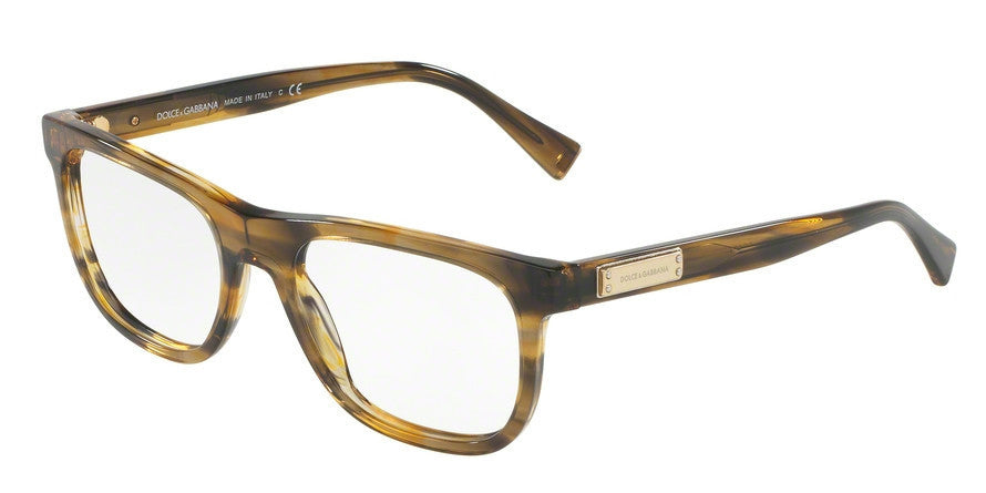 Dolce & Gabbana DG3257 3063 STRIPED BROWN Specs at Home
