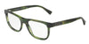 Dolce & Gabbana DG3257 3066 STRIPED GREEN Specs at Home