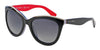 Dolce & Gabbana DG4207 2764T3 BLACK/MULTILAYER/RED (Polarized) Specs at Home