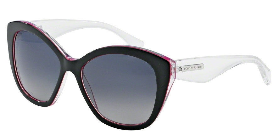 Dolce & Gabbana DG4220 2794T3 BLACK/PEARL FUXIA/CRYST (Polarized) Specs at Home