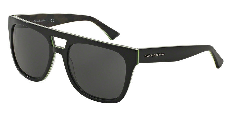 Dolce & Gabbana DG4255 295387 BLACK/FLUO YELLOW/CAMO Specs at Home