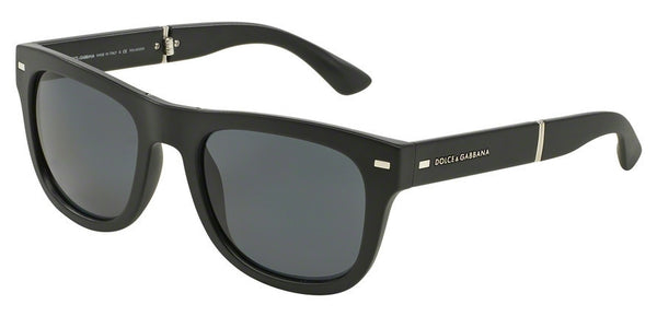 Dolce & Gabbana DG6089 501/81 MATTE BLACK (Polarized) Specs at Home