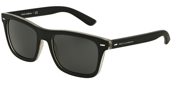 Dolce & Gabbana DG6095 289687 TOP CRYSTAL/BLACK RUBBER Specs at Home