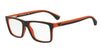Emporio Armani EA3034 5529 BLACK/ORANGE RUBBER Specs at Home