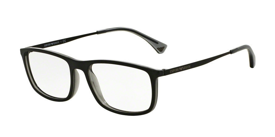 Emporio Armani EA3070 5468 MATTE BLACK/GREY TRANSP Specs at Home