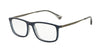 Emporio Armani EA3070 5469 MATTE BLUE/GREY TRANSP Specs at Home