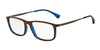Emporio Armani EA3070 5472 MATTE BROWN/BLUE TRANSP Specs at Home