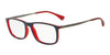 Emporio Armani EA3070 5531 MATTE BLUE/RED TRANSP Specs at Home