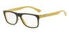 Emporio Armani EA3097 5555 TOP BROWN ON YELLOW Specs at Home