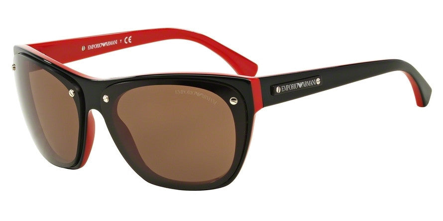 Emporio Armani EA4059 506173 TOP BLACK ON RED Specs at Home