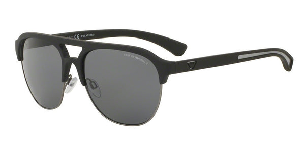 Emporio Armani EA4077 506381 BLACK RUBBER (Polarized) Specs at Home