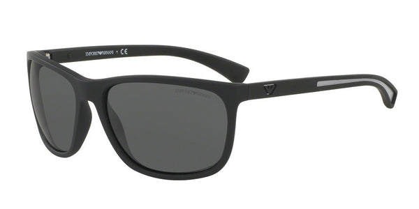 Emporio Armani EA4078 506387 BLACK RUBBER Specs at Home