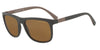 Emporio Armani EA4079 550983 MATTE BROWN (Polarized) Specs at Home