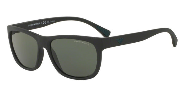 Emporio Armani EA4081 50429A MATTE BLACK (Polarized) Specs at Home