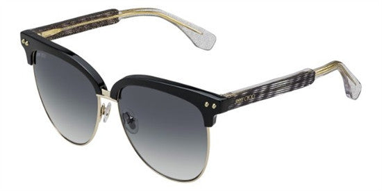 Jimmy Choo ARAYA LYW (VK) - BKGD GLTT - Lens Colour (GREY SF) Specs at Home
