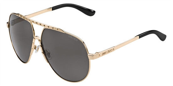 Jimmy Choo BENNY 000 (HJ) - ROSE GOLD (GUN METAL FL) Specs at Home