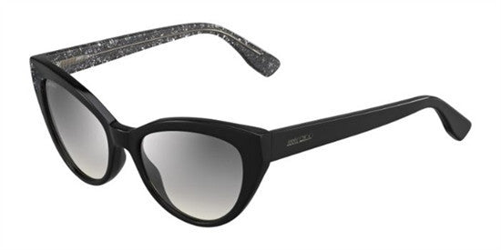 Jimmy Choo COSTY Q3M (IC) - BK BKGLTT - Lens Colour (GREY MS SLV) Specs at Home