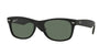 RayBan RB2132 622/58 RUBBER BLACK (Polarized) Specs at Home