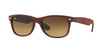 RayBan RB2132 624085 BLACK/TOP BORDO' ALCANTARA Specs at Home