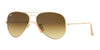 RayBan RB3025 112/85 MATTE GOLD Specs at Home