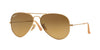 RayBan RB3025 112/M2 MATTE GOLD (Polarized) Specs at Home