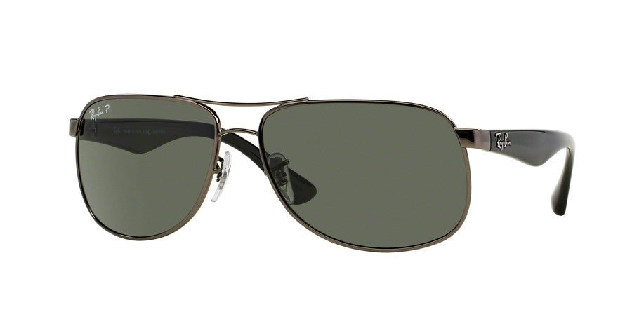 RayBan RB3502 004/58 GUNMETAL (Polarized) Specs at Home