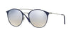 RayBan RB3546 90109U GUNMETAL TOP BLUE Specs at Home