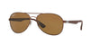 RayBan RB3549 012/83 MATTE BROWN (Polarized) Specs at Home