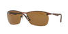 RayBan RB3550 012/83 MATTE DARK BROWN (Polarized) Specs at Home