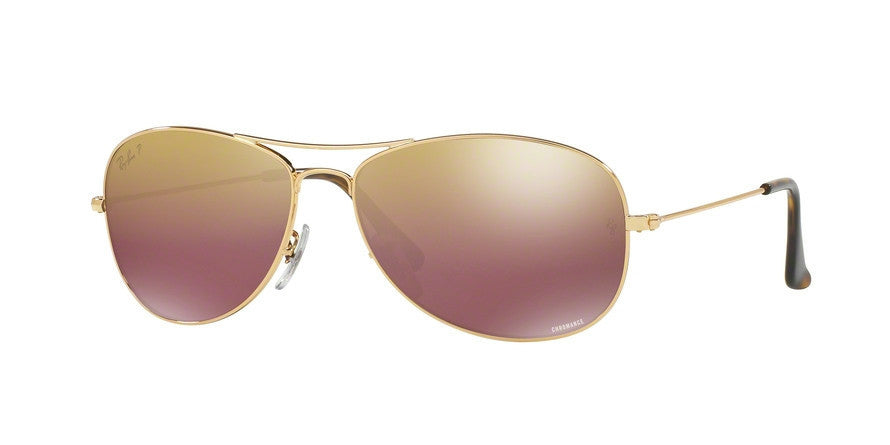 RayBan RB3562 001/6B SHINY GOLD (Polarized) Specs at Home