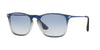 RayBan RB4187 622519 BLUE SHOT ON BLACK Specs at Home