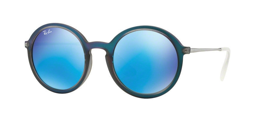 RayBan RB4222 617055 SHOT BLUE RUBBER Specs at Home