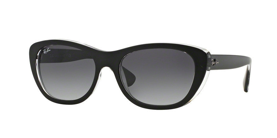 RayBan RB4227 60528G TOP MAT BLACK ON TRANSPARENT Specs at Home