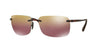 RayBan RB4255 604/6B SHINY BROWN (Polarized) Specs at Home