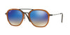 RayBan RB4273 62588B SHINY TRASPARENT BROWN Specs at Home