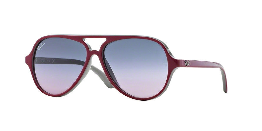 RayBan RJ9049S 177/90 TOP RED ON GRAY Specs at Home