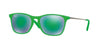 RayBan RJ9061S 70073R GREEN FLUO TRASP RUBBER Specs at Home