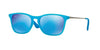 RayBan RJ9061S 701155 AZURE FLUO TRASPARENT RUBBER Specs at Home