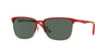 RayBan RJ9535S 245/71 TOP MATTE RED ON SILVER Specs at Home