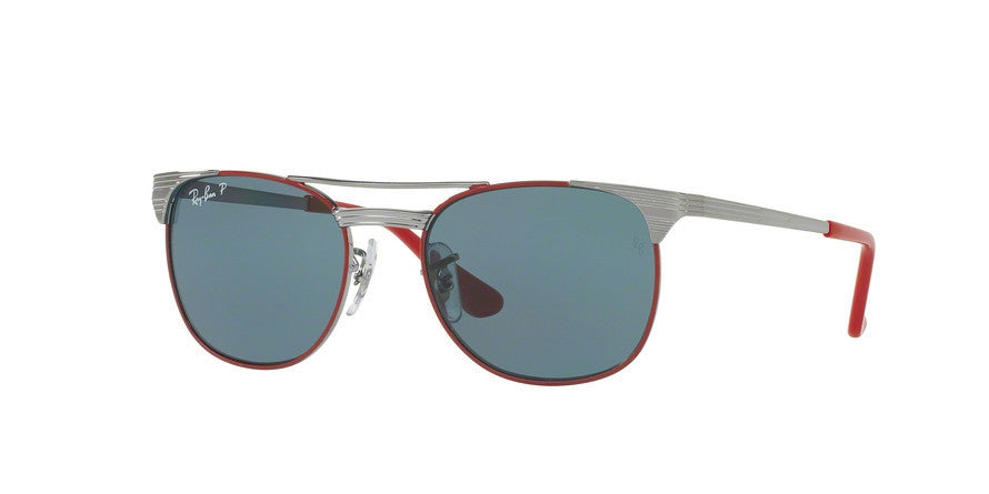 RayBan RJ9540S 218/2V GUNMETAL TOP RED (Polarized) Specs at Home