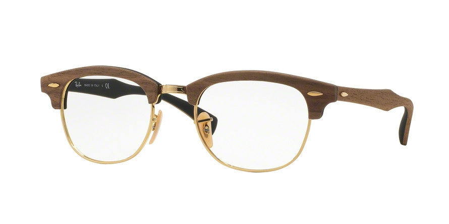 RayBan RX5154M 5560 WALNUT RUBBER BLACK Specs at Home