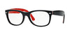 RayBan RX5184 2479 TOP BLACK ON TEXTURE RED Specs at Home