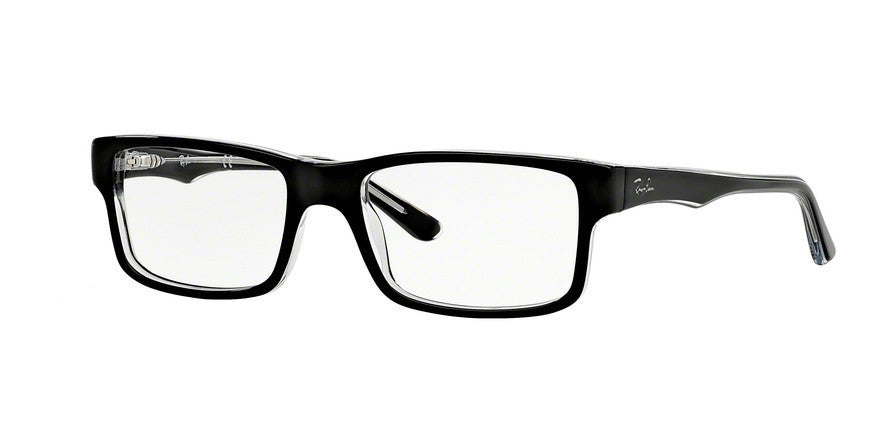 RayBan RX5245 2034 TOP BLACK ON TRANSPARENT Specs at Home